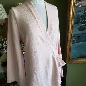 LOFT Wrap Around Pink Kimono